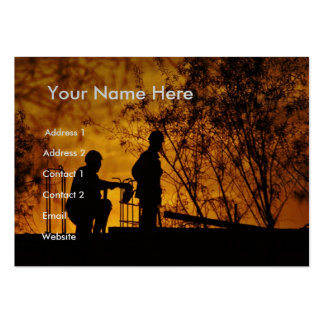 Construction Workers Large Business Cards (Pack Of 100)