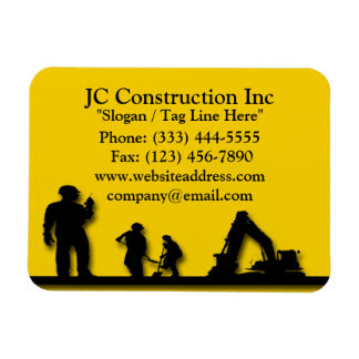 Construction Workers Equipment Magnets Rectangular Photo Magnet