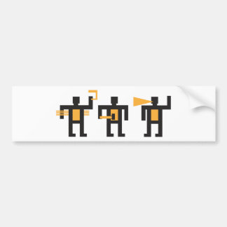 constructivist style little men bumper sticker