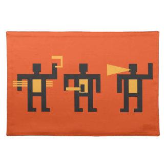 constructivist style little men place mats