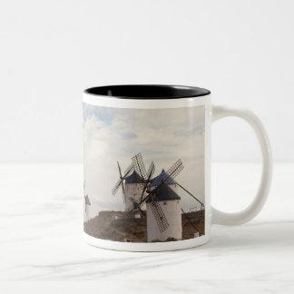 Consuegra, antique La Mancha windmills 4 Two-Tone Coffee Mug