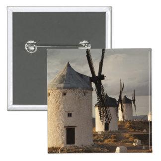 Consuegra, antique La Mancha windmills 6 15 Cm Square Badge