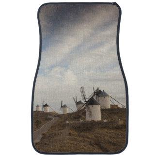 Consuegra, antique La Mancha windmills Car Mat
