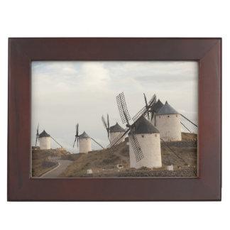 Consuegra, antique La Mancha windmills Keepsake Box