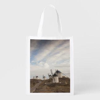 Consuegra, antique La Mancha windmills Reusable Grocery Bag