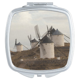 Consuegra, antique La Mancha windmills Travel Mirror