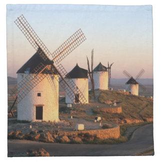 Consuegra, La Mancha, Spain, windmills Cloth Napkins