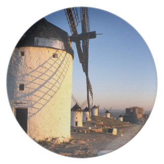 Consuegra, La Mancha, Spain, windmills Dinner Plate