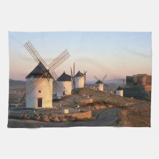 Consuegra, La Mancha, Spain, windmills Kitchen Towel
