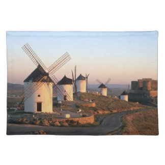 Consuegra, La Mancha, Spain, windmills Placemat