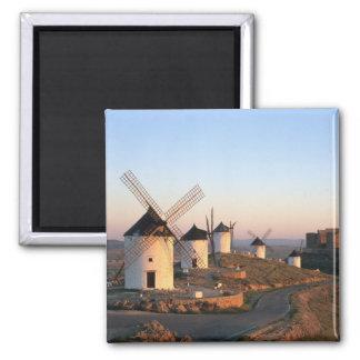 Consuegra, La Mancha, Spain, windmills Square Magnet