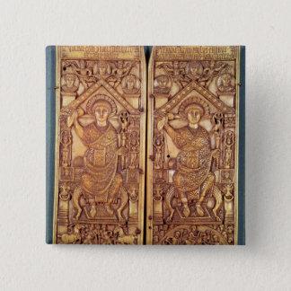 Consular diptych Anastasius  carved 15 Cm Square Badge
