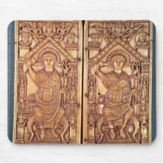 Consular diptych Anastasius  carved Mouse Pad