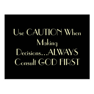 """""""Consult God First"""" Postcard"""