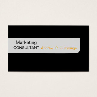 Consultant Black Plain Modern Masculine Business Card