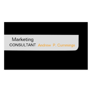 Consultant Black Plain Modern Masculine Pack Of Standard Business Cards