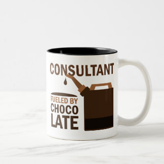 Consultant Gift (Funny) Two-Tone Coffee Mug