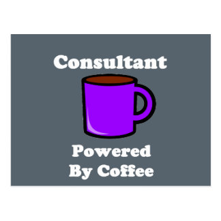 """""""Consultant"""" Powered by Coffee Postcard"""