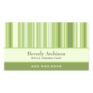 Consultant Stripes Business Card