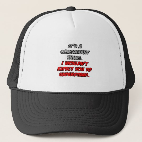 Consultant Thing .. You Wouldn't Understand Trucker Hat