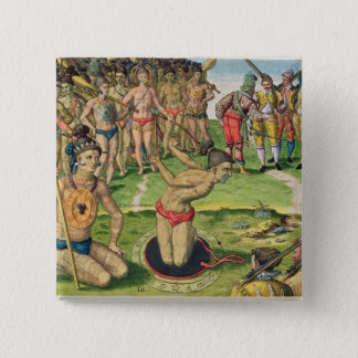 Consulting a Sorcerer, from 'Brevis Narratio' 15 Cm Square Badge
