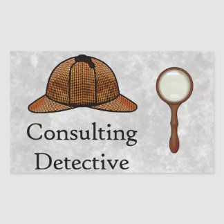 Consulting Detective rectangular sticker