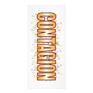 Contagion Bubble Tag Personalized Rack Card