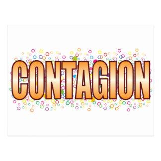 Contagion Bubble Tag Postcard