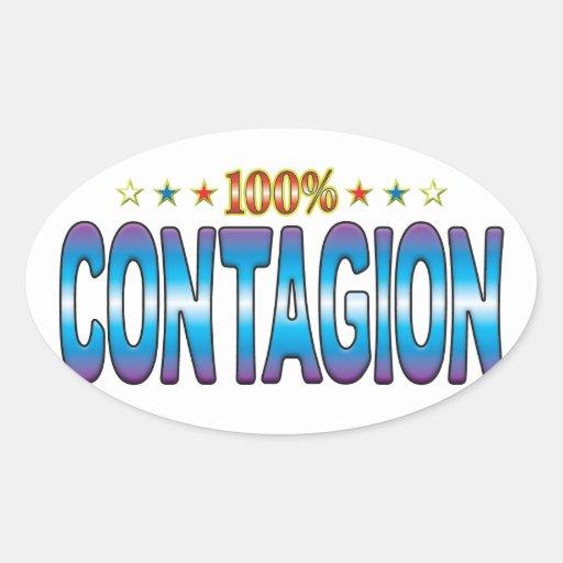 Contagion Star Tag v2 Oval Stickers