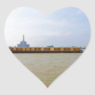 Container Barge Heart Sticker