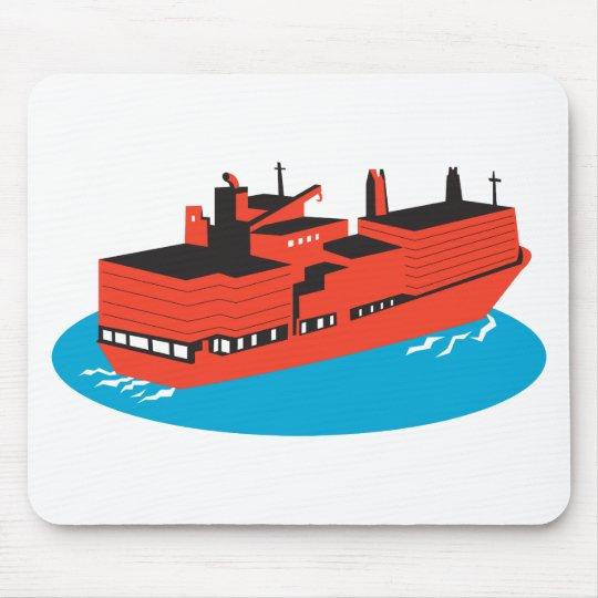 container cargo ship retro mouse mat