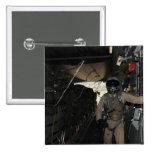 Container Delivery System bundles exit a C-17 15 Cm Square Badge