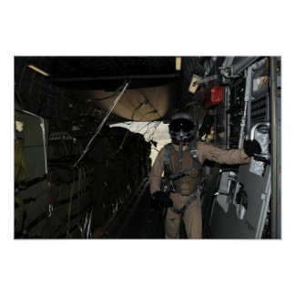 Container Delivery System bundles exit a C-17 Poster