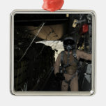 Container Delivery System bundles exit a C-17 Silver-Colored Square Decoration
