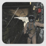 Container Delivery System bundles exit a C-17 Square Sticker