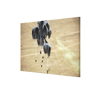 Container delivery system bundles parachute canvas print