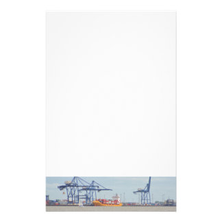 Container Port At Felixstowe Personalised Stationery