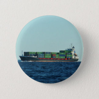 Container Ship 6 Cm Round Badge