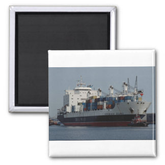 Container ship arriving at Tilbury docks, England Magnet