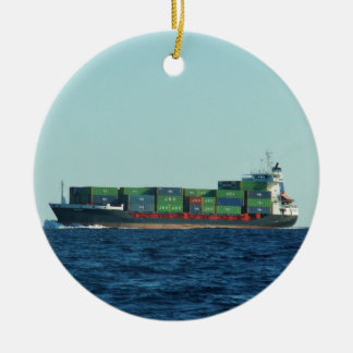 Container Ship Christmas Ornament