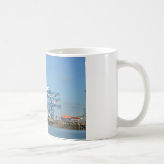 Container Ship Dock Coffee Mug