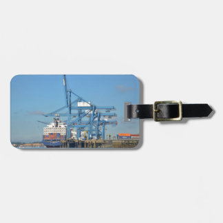 Container Ship Dock Luggage Tag