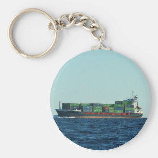 Container Ship Key Ring