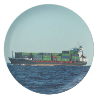 Container Ship Plate