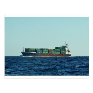 Container Ship Postcard