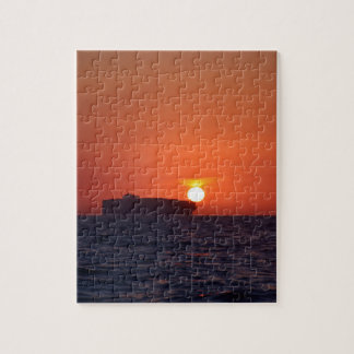 Container Ship Sunset Jigsaw Puzzle