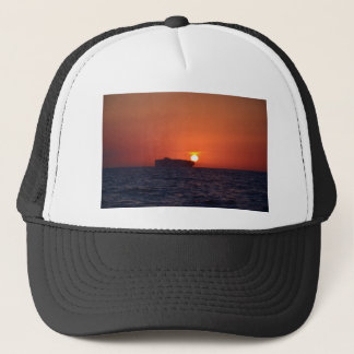 Container Ship Sunset Trucker Hat