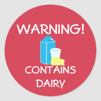 Contains Dairy Food Allergy Alert Labels