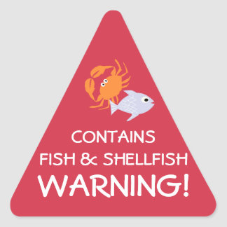 Contains Fish Shellfish Allergy Alert Stickers