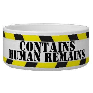 Contains Human Remains dog bowl